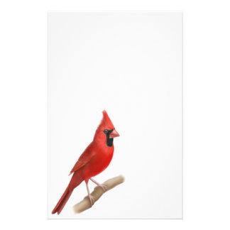 Efectos de escritorio rojos cardinales del varón d papelería de diseño