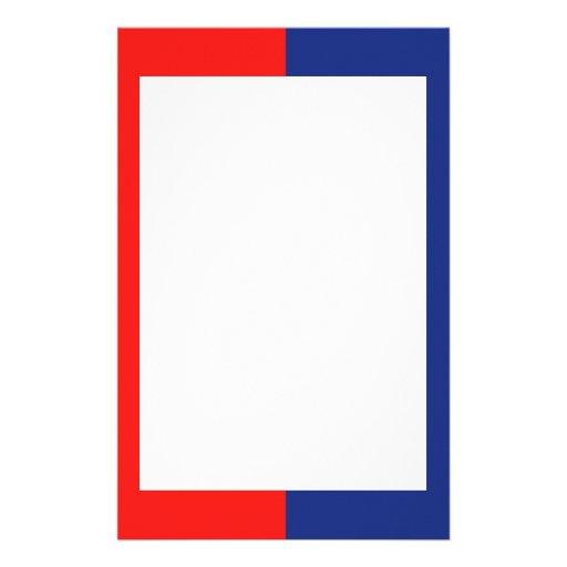 Efectos de escritorio rojos y azules papeleria de diseño