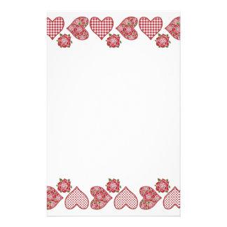 Efectos de escritorio románticos: Corazones y rosa Papeleria De Diseño