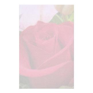 Efectos de escritorio--Rosa rojo borroso Personalized Stationery