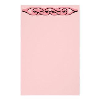 Efectos de escritorio rosados de la cerradura papeleria