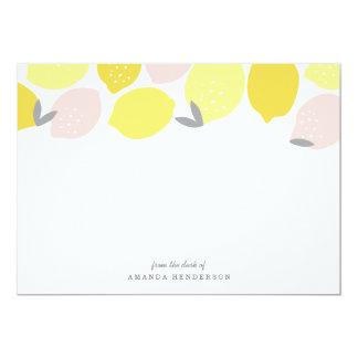 """Efectos de escritorio rosados de la limonada invitación 5"""" x 7"""""""