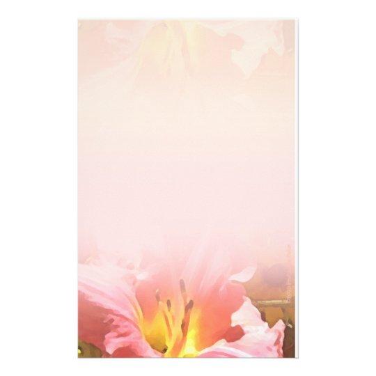 Efectos de escritorio rosados de la mezcla del lir  papeleria