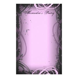 Efectos de escritorio rosados de la poesía del vin papeleria