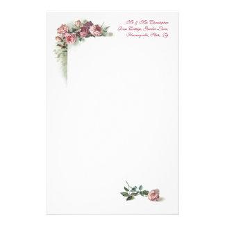 Efectos de escritorio rosados del vintage de los r papelería personalizada