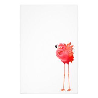 Efectos de escritorio rosados tropicales del flame papelería personalizada