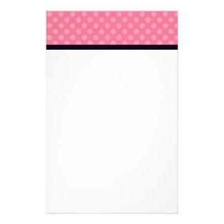 Efectos de escritorio rosados y negros del persona personalized stationery