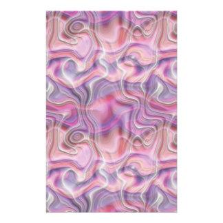 Efectos de escritorio rosados y púrpuras abstracto  papeleria de diseño