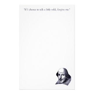 Efectos de escritorio simples de Shakespeare Papelería Personalizada