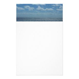 Efectos de escritorio soleados del mar del Caribe Papelería Personalizada