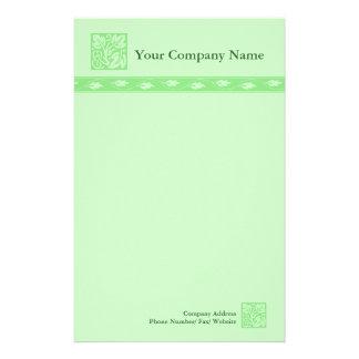 Efectos de escritorio verdes profesionales del  papeleria