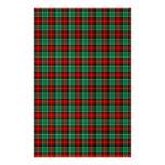 Efectos de escritorio verdes rojos del libro de papelería personalizada