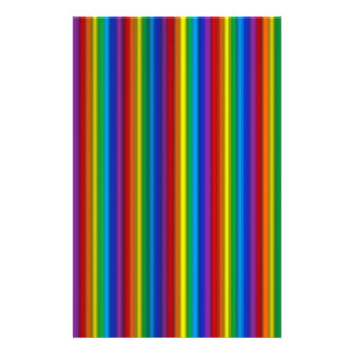 Efectos de escritorio verticales del arco iris papelería