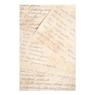 Efectos de escritorio viejos de las recetas de la  papeleria personalizada