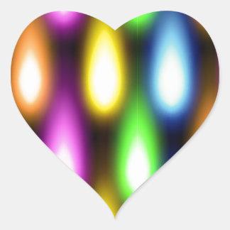 Efectos luminosos coloridos calcomania corazon personalizadas
