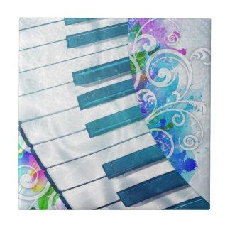 Efectos luminosos del piano circular azul fresco i azulejo cuadrado pequeño
