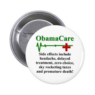 Efectos secundarios de ObamaCare Pin Redondo 5 Cm