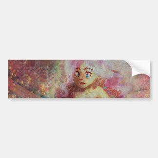Efervescencia rosada etiqueta de parachoque