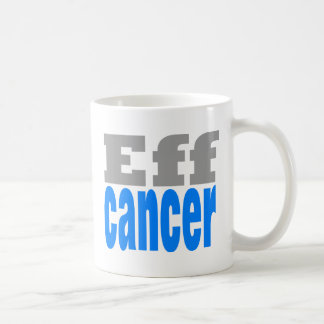 eff cancer blue coffee mug