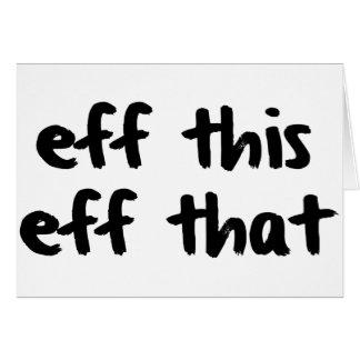 EFF este EFF esa vida de YOLO de la vida de Effing Tarjetas