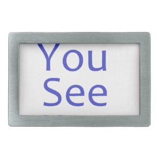 EFF usted ve el azul de kay Hebilla Cinturon