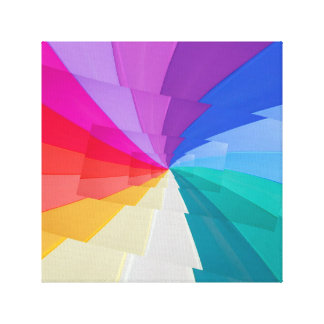 effect droste of  coloured vortex on  print canvas