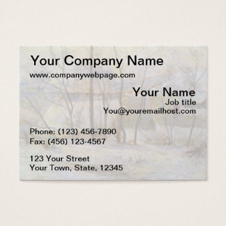 Effect of Snow - 1879 Business Card
