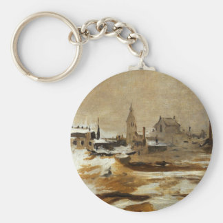 Effect of Snow at Petit-Montrouge by Edouard Manet Keychain