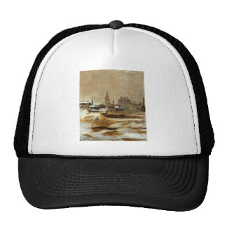 Effect of Snow at Petit-Montrouge by Edouard Manet Trucker Hat