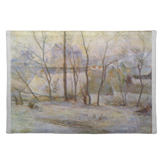 Effect of Snow - Paul Gauguin (1879) Cloth Placemat