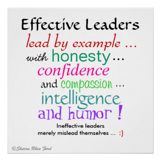 Effective Leaders' Character Traits by SRF Poster