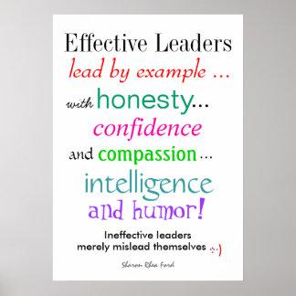 Effective Leaders Poster - Humor