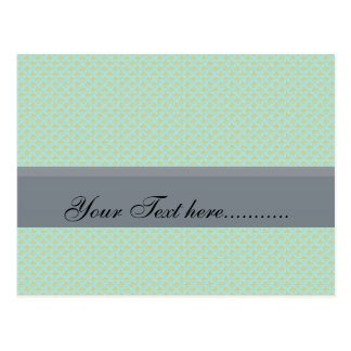 Effective light blue flower with sepals on rough g postcard