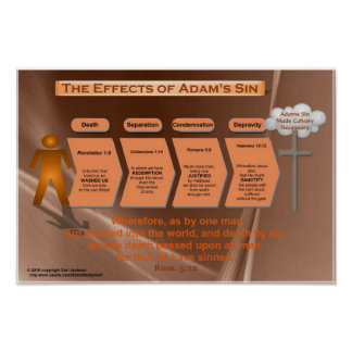 Effects of Sin (Classroom Chart) Poster