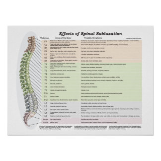 Effects of Spinal Subluxation Poster Chiropractic