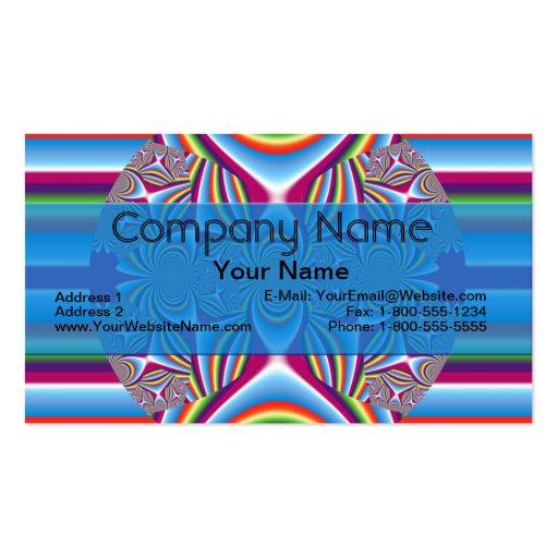 Effervescence Fractal Business Card Templates