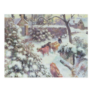 Effet de Neige a Montfoucault, 1882 Postcard