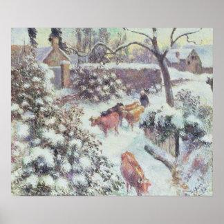Effet de Neige a Montfoucault, 1882 Poster