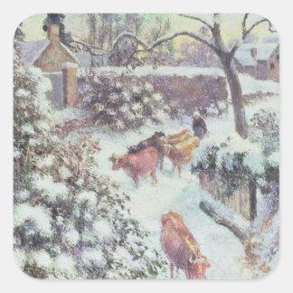 Effet de Neige a Montfoucault, 1882 Square Sticker