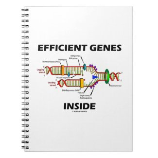 Efficient Genes Inside (DNA Replication) Spiral Note Book