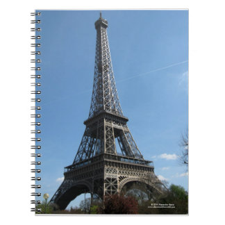 Effiel tower spiral bound notebook