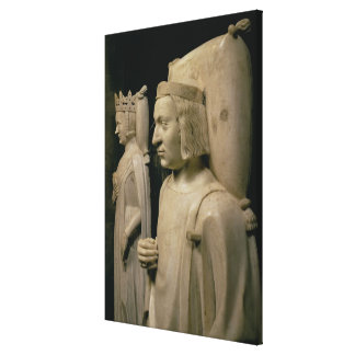 Effigies from the tomb of Charles V the 'Wise' (13 Canvas Print