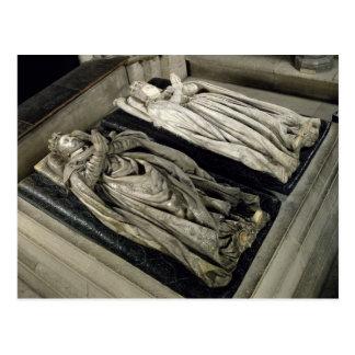 Effigies of Henri II and Catherine de Medici Postcards