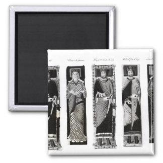 Effigies of Henry II  Eleanor of Aquitaine Refrigerator Magnets