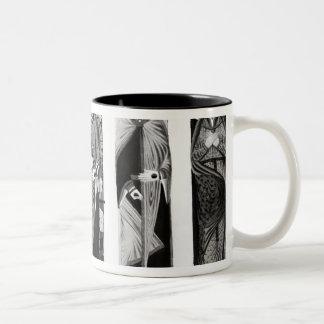 Effigies of Henry II  Eleanor of Aquitaine Two-Tone Coffee Mug
