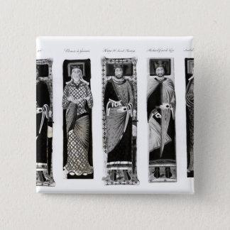 Effigies of Henry II  Eleanor of Aquitaine Pinback Button