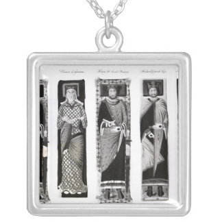 Effigies of Henry II  Eleanor of Aquitaine Silver Plated Necklace