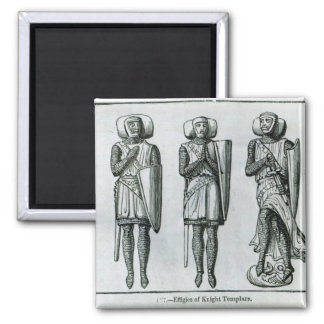 Effigies of Knight Templars 2 Inch Square Magnet