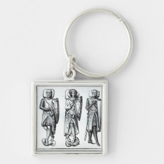 Effigies of Knights Templars Keychain