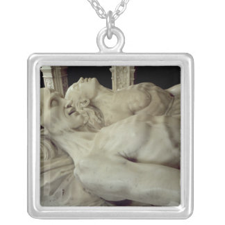 Effigies of Louis XII  and Anne of Brittany Square Pendant Necklace